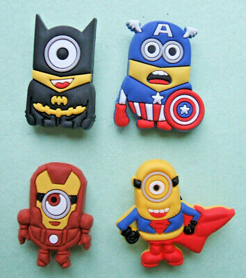 SHOE CHARMS (G) - CARTOON CHARACTERS, ONE EYE, TWO EYES (4A) - Pack of 4