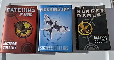 THE HUNGER GAMES Complete Set 1-3 Suzanne Collins Lot 3 ( 2 hardcover 1 Paper)