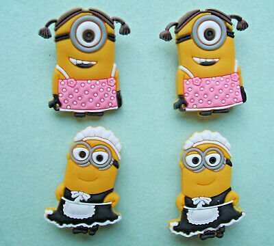 SHOE CHARMS (G) - CARTOON CHARACTERS, ONE EYE, TWO EYES (4R) - Pack of 4