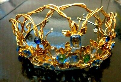 Pretty Handmade Crystal Rhinestones Tiara/Crown Wedding Headband Headpiece Jewel