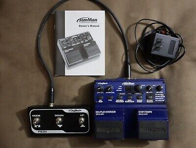 DigiTech JamMan Looper/Phrase Sampler Pedal with footswitch, cable, power supply