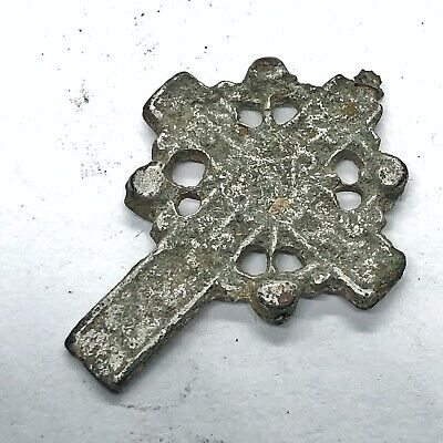 1400-1700's Russian Orthodox Crufix Cross — Silver Or Platinum — Christian Icon