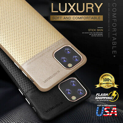 SLIM Luxury Leather Back Ultra Thin TPU Case Cover For Apple iPhone 11 Pro Max