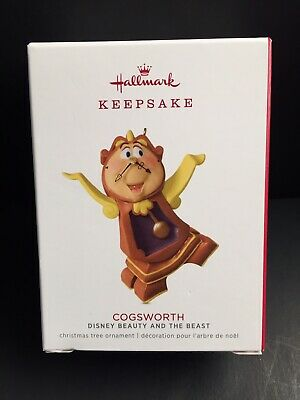 Hallmark 2018 Limited Edition Cogsworth - Disney Beauty & The Beast Ornament