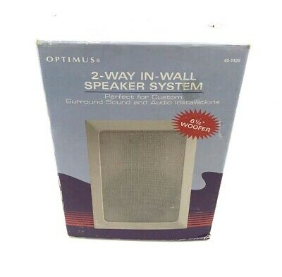 """NEW 1Pair in Box. Radio Shack 40-1368 In-Wall 6.5/"""" 2 Way Speaker System"""