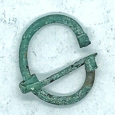 Ancient Norse Viking Brass Or Bronze Pendant Pin Artifact European Antiquity Old