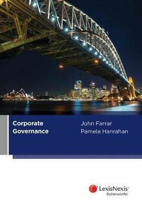 NEW Corporate Governance By Farrar & Hanrahan Paperback Free Shipping