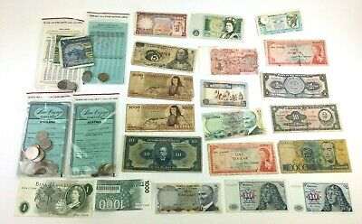 World Foreign Banknotes Currency Lot Mexico Germany England Dollar Bills VTG