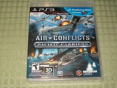 BRAND NEW - Air Conflicts: Pacific Carriers (Sony PlayStation 3) PS3 Game FLAWED