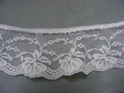 Gathered Lace White x 4.50 (CP319) 1 Break