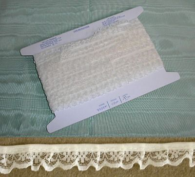 Gathered Narrow  Cream Lace 20 meters (134) Second