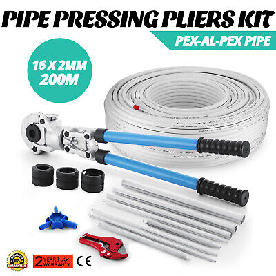 Set Pinza Crimpatrice Crimpare TH 16-32 mm + Tubo Multistrato 200m Riscaldamento