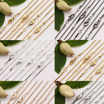 5Pcs Snake Chain Silver Gold Plated Clasp Jewelry Findings Necklace Making DIY