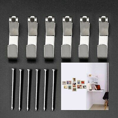 Heavy Duty Wall Picture Hanger Hooks 100 Pcs with Nails Photo Frame Hanging Kit