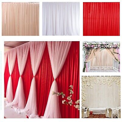 Backdrop Curtains Wedding Stage Photography Party Background Drapes Studio Decor