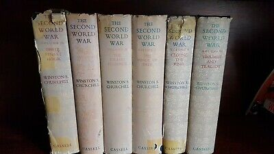 THE SECOND WORLD WAR VOL 1 TO 6 WINSTON S CHURCHILL CASSELL 1st edition