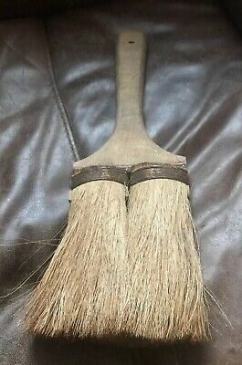 Vintage Paint Brush British Made Old Decorators Tools Pure Bristle CopperBand BD