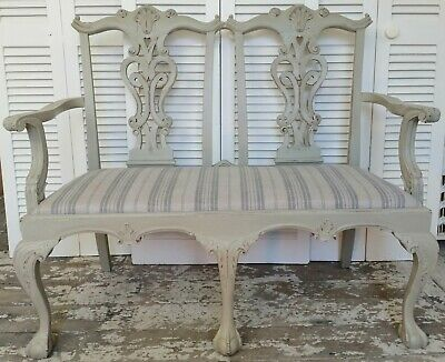 Edwardian Style Two Seater Sofa / Bench - Home Sweet Home Store HF3017