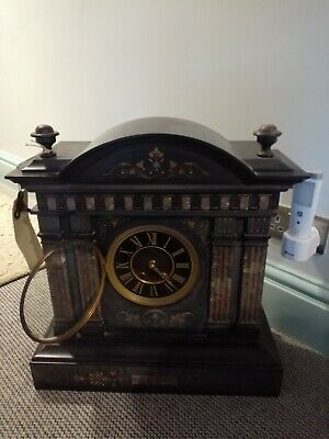 Antique Slate And Marble Clock