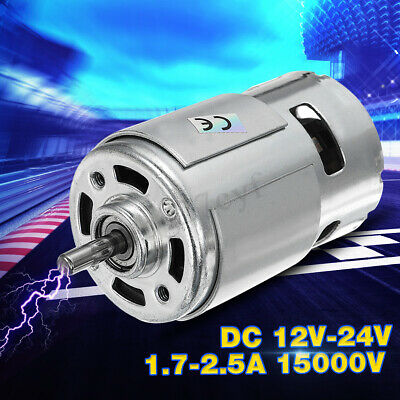 AU DC 12-24V 15000RPM High Speed Large torque DC 775 Motor Electric Power Tool