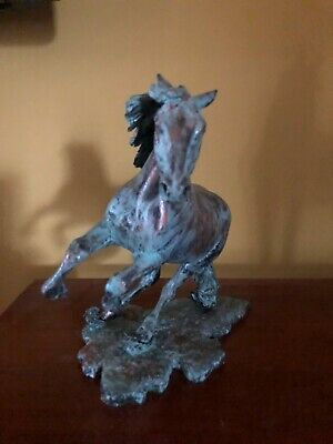 2019 Recoloso artist resin model horse finished in Faux Bronze by C Farrens