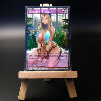 Allure of Darkness YuGiOh Orica Custom Card Nude Hentai Anime Girl HOLO//Common
