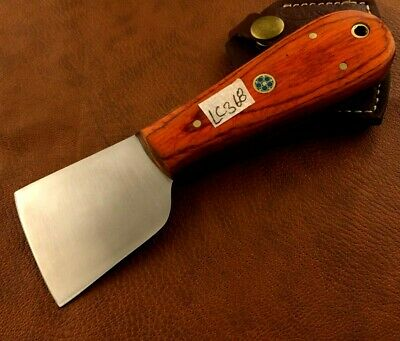 Handmade Carbon Steel Skiver Leather Cutter-Skiving Tool-Sheath -LC368