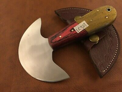 Handmade Carbon Steel Skiver Leather Cutter-Skiving Tool-Sheath -LC371