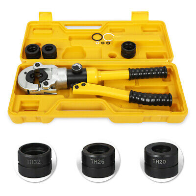 Hydraulic Pipe Crimper Tool 12T Punching Crimping Pressing Pliers Kit + Case
