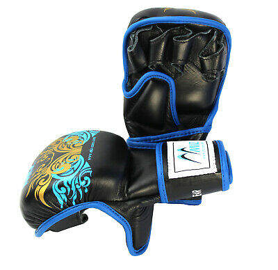 Boxing Gloves MMA Grappling Sparring Punch Bag UFC Cage Fight Gel Muay Thai Pad