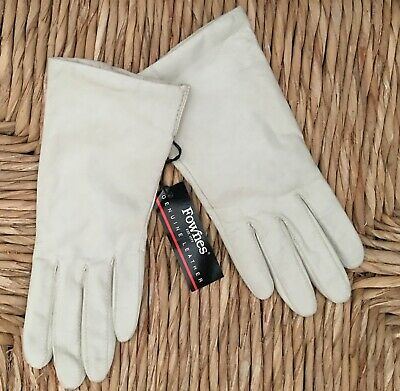 Fownes Ivory Buttery Soft Kid Leather Lined Gloves Sz 7 Nwt