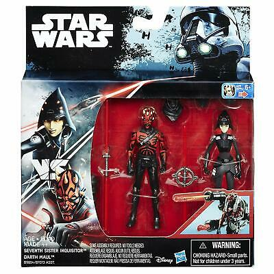 """Star Wars Rebels Seventh Sister Inquisitor VS. Darth Maul Action Figures 3.75"""""""