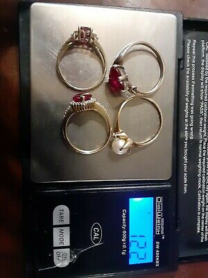 10k Yellow Gold Rings (Lot Of 4)