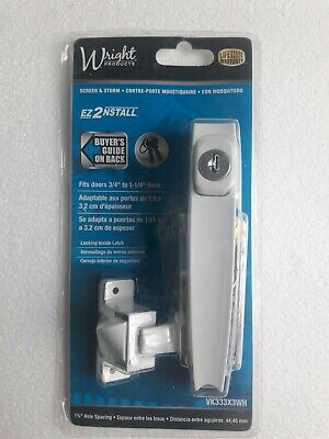 Wright Products VK333X3WH Keyed Tie-Down Push Button Latch, White Finish