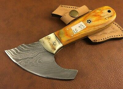 Handmade Damascus Steel Leather Skiver-Leather Cutter-Edge Skiving Tool-LC33