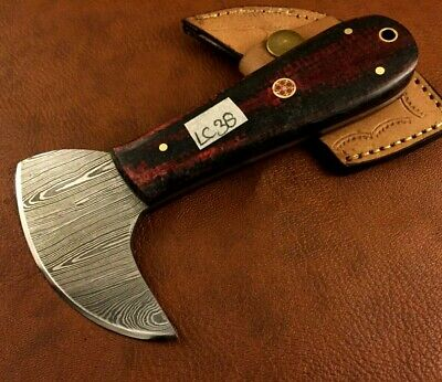 Handmade Damascus Steel Leather Skiver-Leather Cutter-Edge Skiving Tool-LC39