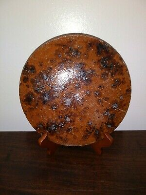 Early Redware Trivet Manganese Decorated c. 19th Century