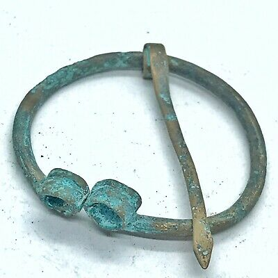 Ancient Norse Viking Brass Bronze Pendant Pin Artifact European Antiquity RARE