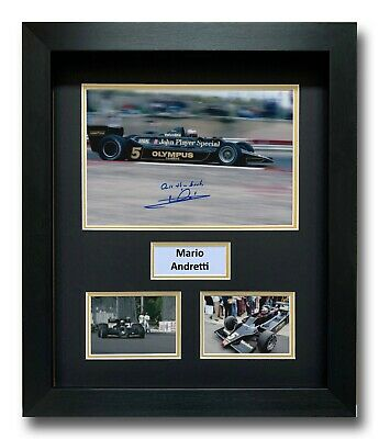 Mario Andretti Hand Signed Framed Photo Display - Lotus Formula 1 Autograph 2.