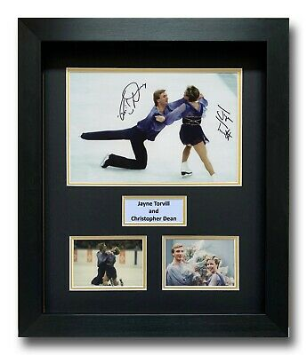 Jayne Torvill And Christopher Dean Hand Signed Framed Photo Display - Autograph.