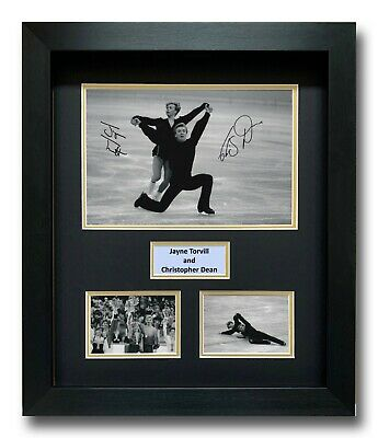Jayne Torvill And Christopher Dean Hand Signed Framed Photo Display - Autograph