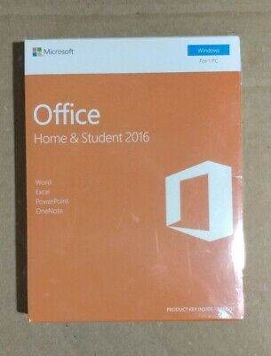 Microsoft Office Home and Student 2016 Windows English 1 PC Key Card 79G-04597
