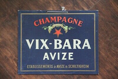 Vintage Champagne Vix-Bara Avize Advertising Sign Bar Restaurant