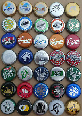 35  Australian Small & Large Brewery Crown Seal Bottle Caps (1)