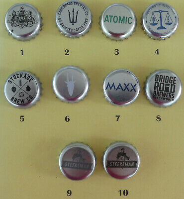 10  Australian Small Brewery Crown Seal Bottle Caps (lot 4)