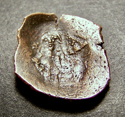 Byzantine Cup Coin, Medieval Crusades, 11-14th Cent AD, 20-25mm Trachy