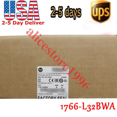 2019 US Allen-Bradley MicroLogix 1400 32 Point Controller 1766-L32BWA New Sealed
