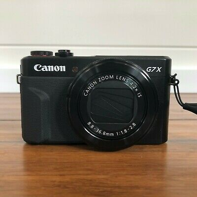 Canon PowerShot G7 X Mark II -Used Once w/ Case / Battery / Charger / Box / Docs