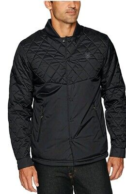 Spyder Mens 2XL Ouzo Shirt Insulator Black Quilted Snap Closure Jacket NWT $189