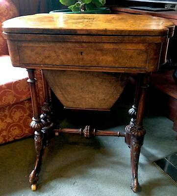 Antique Victorian Inlaid Walnut Games Table